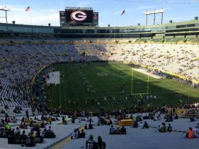 Lambeau Field, section: 350, row: 1, seat: 5