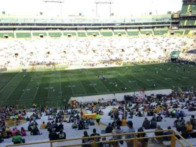 Lambeau Field, section: 322, row: 3, seat: 10