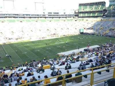 Lambeau Field, section: 318, row: 1, seat: 21