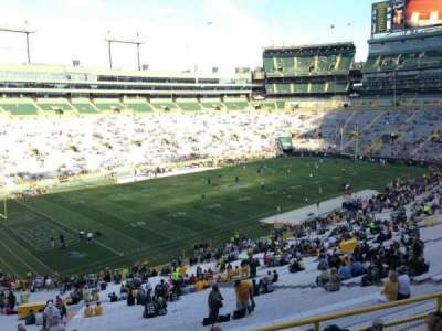 Lambeau Field, section: 314, row: 1, seat: 1