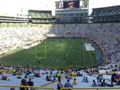 Lambeau Field, section: 304, row: 1, seat: 30