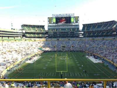 Lambeau Field, section: 300, row: 1, seat: 6