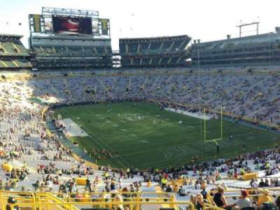 Lambeau Field, section: 307, row: 8, seat: 8