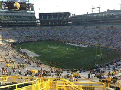 Lambeau Field, section: 403, row: 9, seat: 3
