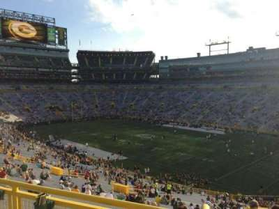 Lambeau Field, section: 407, row: 2, seat: 10