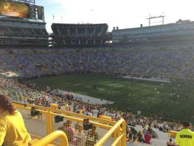 Lambeau Field, section: 409, row: 4, seat: 7