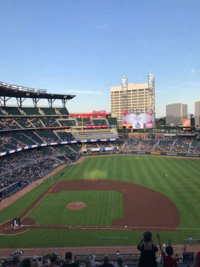 SunTrust Park, section: 320, row: 8, seat: 4