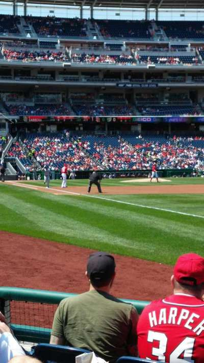 Nationals Park, section: 135, row: E, seat: 1