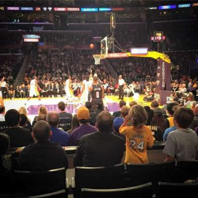 Staples Center, section: 110, row: 5, seat: 13