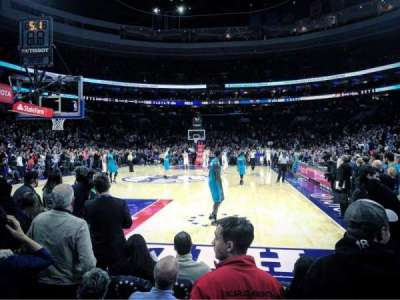 Wells Fargo Center, section: 120, row: B, seat: 10