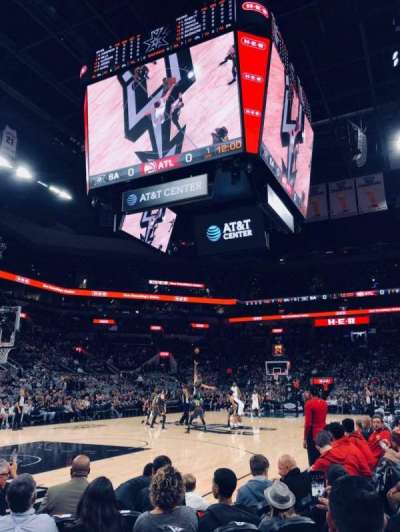 AT&T Center, section: 112, row: 6, seat: 3