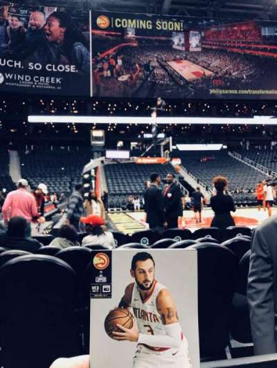 Philips Arena, section: 117, row: A, seat: 1