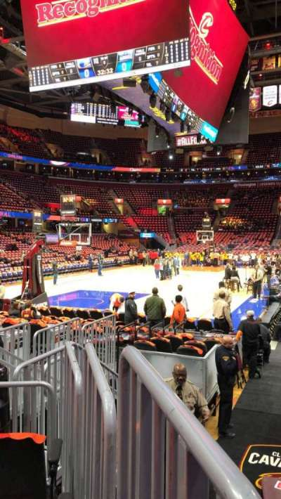 Quicken Loans Arena Section 120 Row 3 Seat