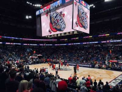 Smoothie King Center, section: 123, row: 14, seat: 1