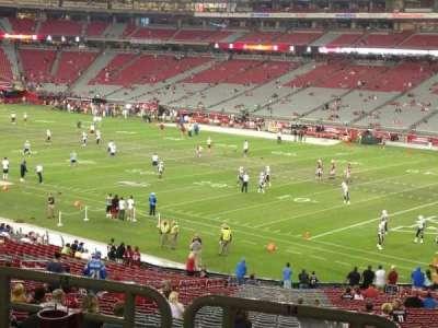 University of Phoenix Stadium section 124