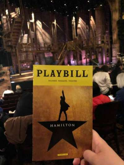 Richard Rodgers Theatre, section: ORCH, row: L, seat: 21