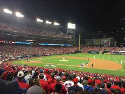 Nationals Park, section: 130, row: NN, seat: 1