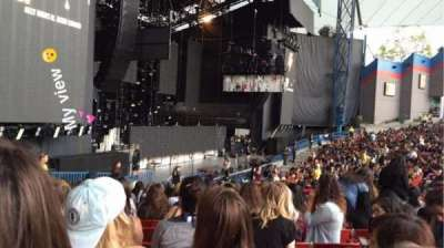 Shoreline Amphitheatre, section: 103, row: P, seat: 30