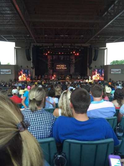 Klipsch Music Center, section: F, row: T, seat: 10