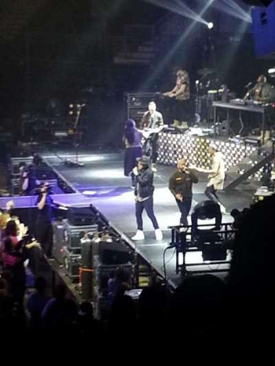 Infinite Energy Arena, section: 107, row: S, seat: 1