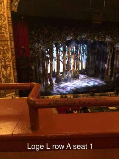 Cadillac Palace Theater, section: Loge L, row: A, seat: 1