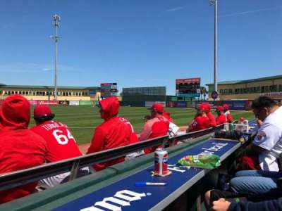 Roger Dean Stadium, section: Bullpen, row: 1, seat: 4