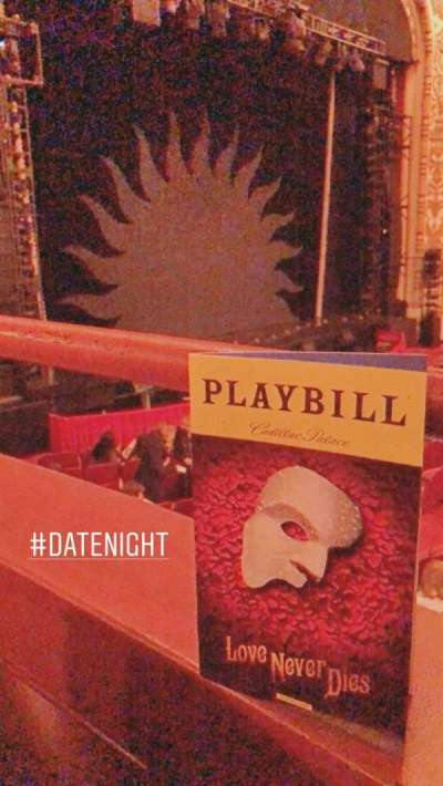 Cadillac Palace Theater, section: Dress Circle Left, row: CC, seat: 1