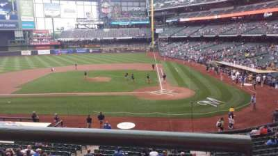 Miller Park, section: 222, row: 1, seat: 6