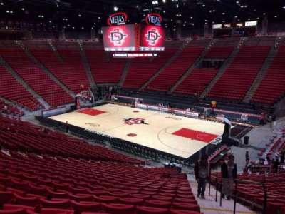 Viejas Arena, section: H, row: 26, seat: 1