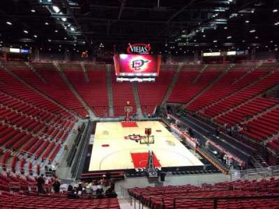 Viejas Arena, section: K, row: 28, seat: 1