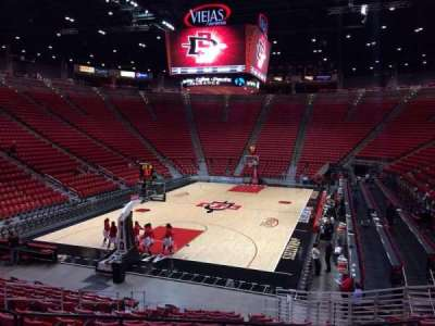 Viejas Arena, section: M, row: 16, seat: 8