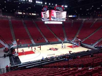 Viejas Arena, section: P, row: 23, seat: 12