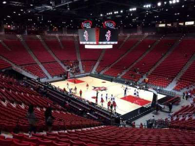 Viejas Arena, section: U, row: 28, seat: 20