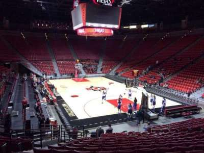 Viejas Arena, section: V, row: 17, seat: 17
