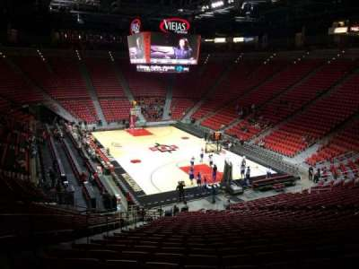 Viejas Arena, section: V, row: 26, seat: 22