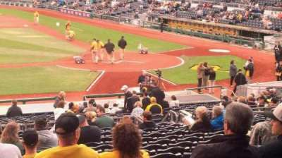 PNC Park, section: 121, row: V, seat: 12