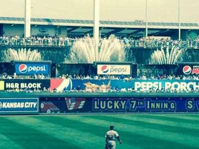 Kauffman Stadium, section: 115, row: H, seat: 1