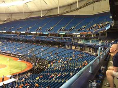 Tropicana Field, section: 211, row: A, seat: 17