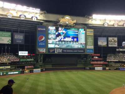 Miller Park, section: 225, row: 13, seat: 9