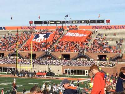 Memorial Stadium (Champaign), section: 109, row: 32, seat: 20