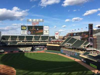 Target Field, section: 207, row: 1, seat: 3