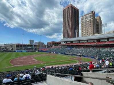 Sahlen Field, section: 115, row: EE, seat: 1