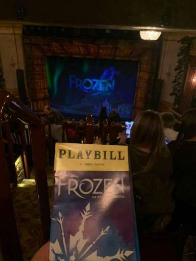 St. James Theatre, section: Mezzanine R, row: Q, seat: 2