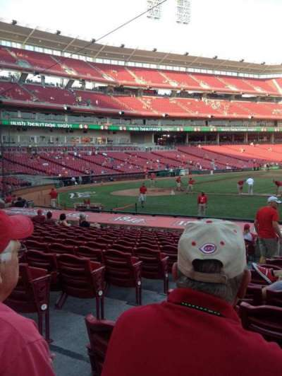 Great American Ball Park, section: 130, row: S, seat: 12