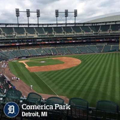 Comerica Park, section: 211, row: 1, seat: 6