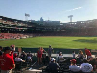 Fenway Park, section: 40, row: 11, seat: 8