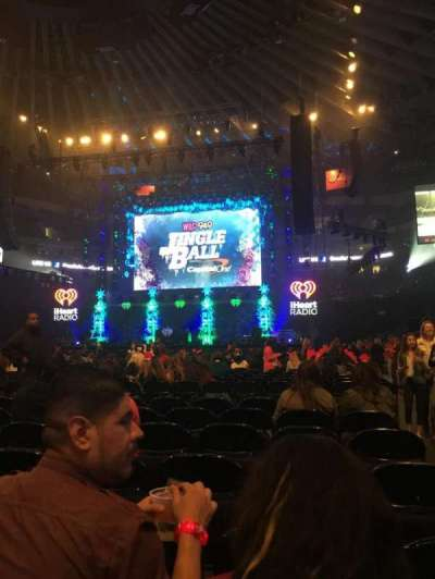 Oracle Arena, section: D, row: 7, seat: 1