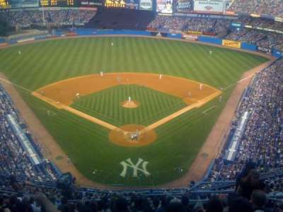 old Yankee Stadium, section: UPPER DECK BEHIND HOME PLATE