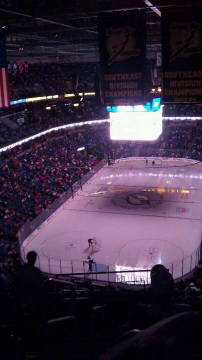 Amalie Arena, section: 307, row: n, seat: 26