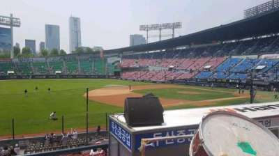 Jamsil Baseball Stadium, section: 221, row: 3, seat: 26